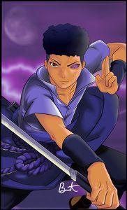 Sasuke (Naruto) black print