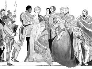 Othello in his Courts - Digital Art