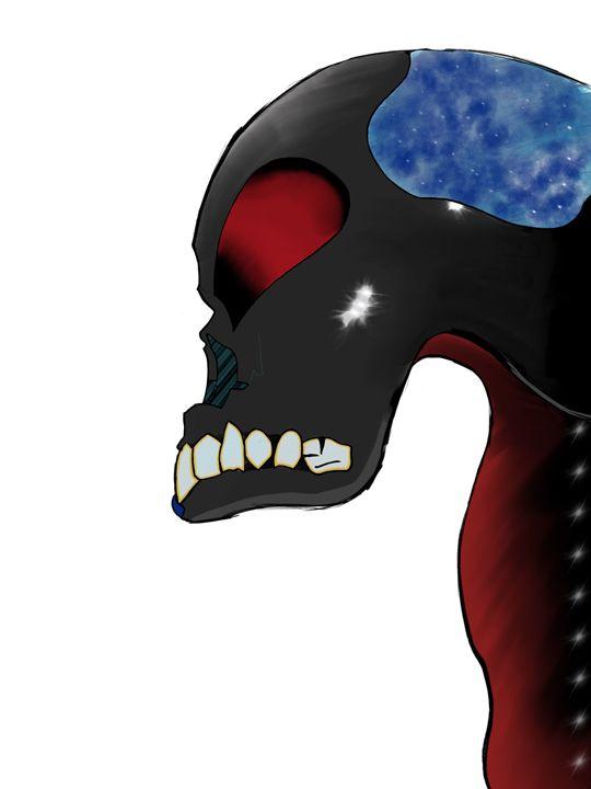 Abstract Skull - Digital Art