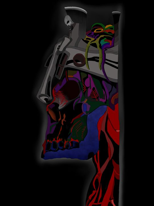 Dark skull - Digital Art