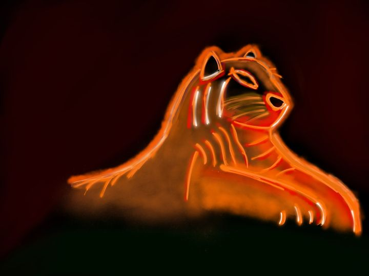 Fire Lion - Digital Art