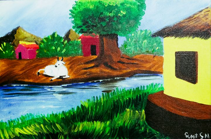 Rustic Village - Sumit Nair