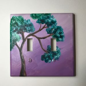 Acrylic painting outlet cover