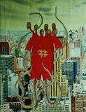 Original painting of Red Dragon