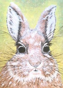 Acrylic Painting of Snowy Rabbit