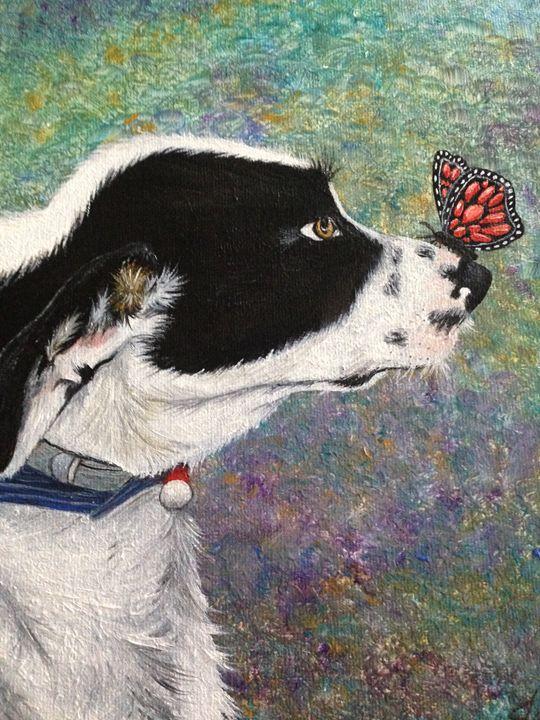 Oil Painting Dog Portrait Print - Creative Art by Mimi