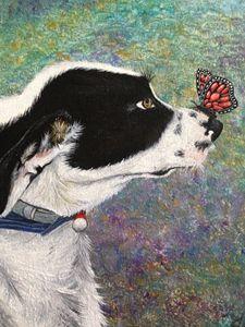 Oil Painting Dog Portrait Print