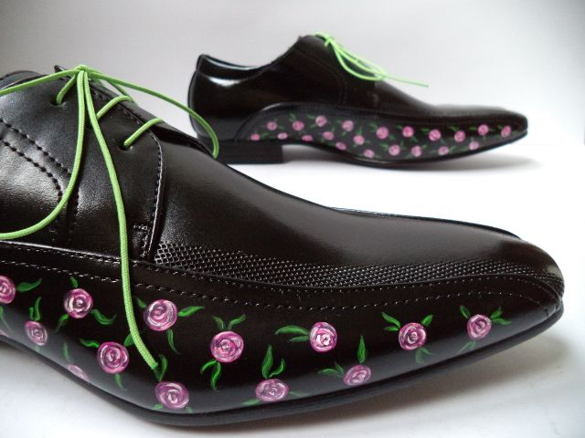 Roses Black Shoes - FAUSTINE