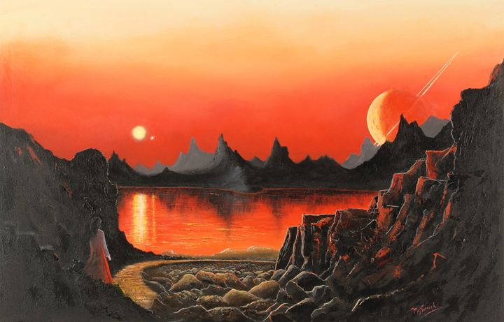 A Binary Sunset - Landscape & Space Art of Suresh N C