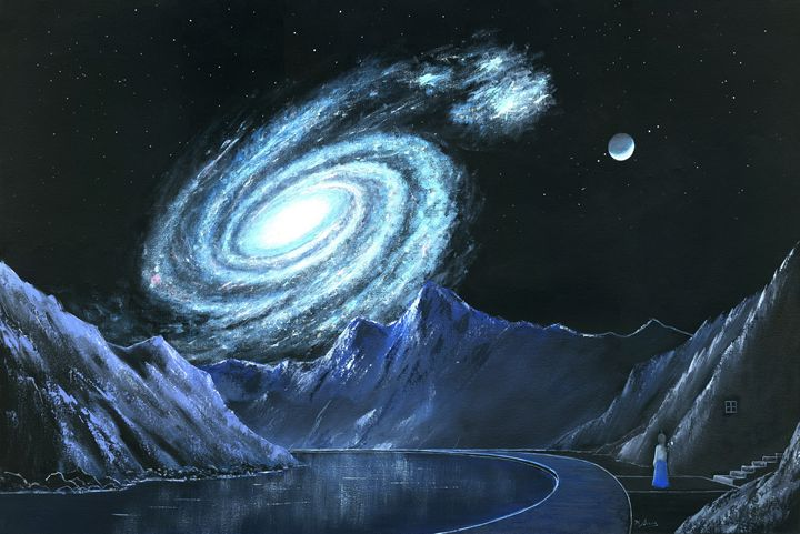 Rise of Galaxy-2 - Landscape & Space Art of Suresh N C