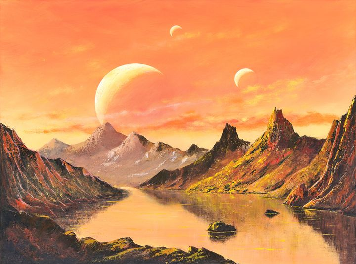 Rise of the Moons - Landscape & Space Art of Suresh N C