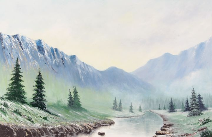 The Stream, In Late Winter - Landscape & Space Art of Suresh N C