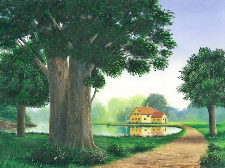 A Secluded Home - Landscape & Space Art of Suresh N C