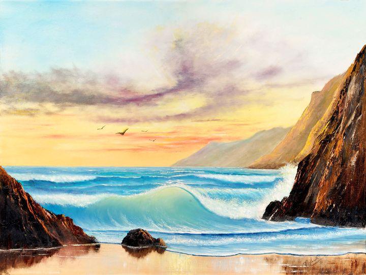 Seascape, Untitled - Landscape & Space Art of Suresh N C