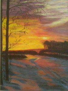 frosty sun set