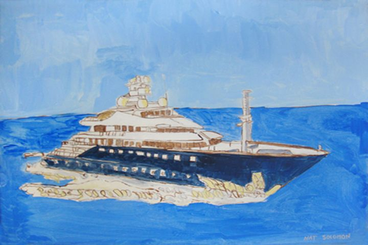Nat's Luxury Boat - Nat Solomon's Paintings and Photography