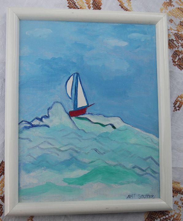 Nat's Sailboat - Nat Solomon's Paintings and Photography