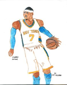 Carmelo Anthony World Class Shooter - Nat Solomon's Paintings and Photography