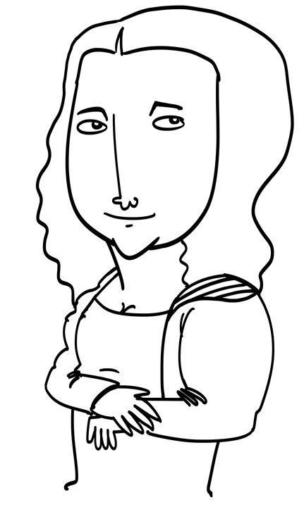 Mona Lisa caricatures - Syed Mohd Badril Hisham