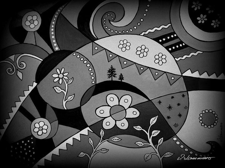 Life Waves Black & white - Viveca Lammers