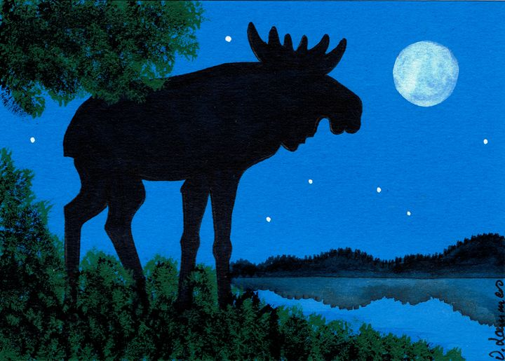 Moose Card - Viveca Lammers