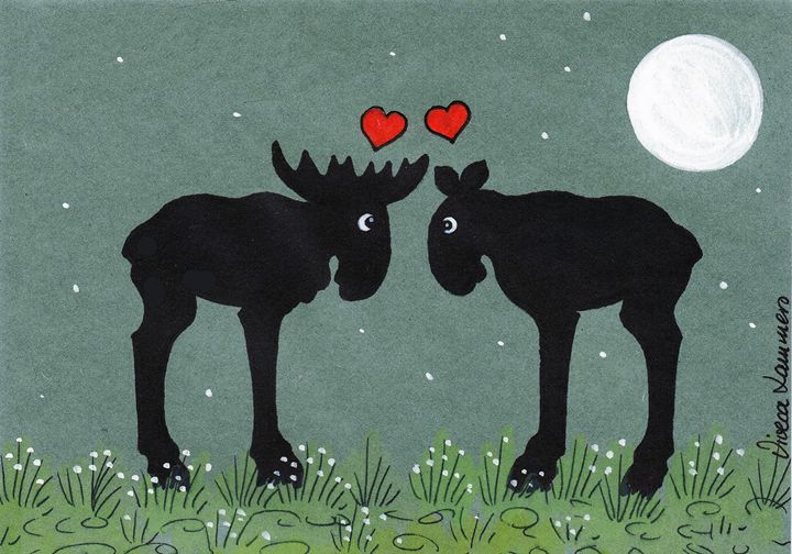 Moose Love Card - Viveca Lammers