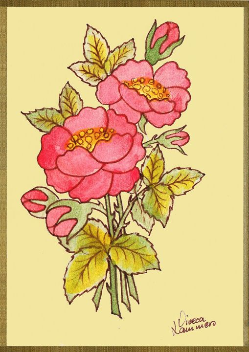 Flower Card - Viveca Lammers
