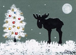 Moose Merry Christmas Card