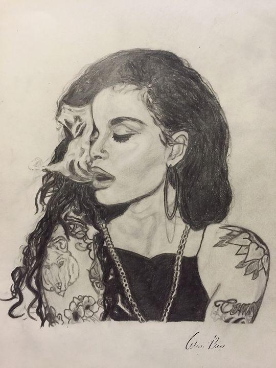 Drawing of Kehlani - Astylez Images