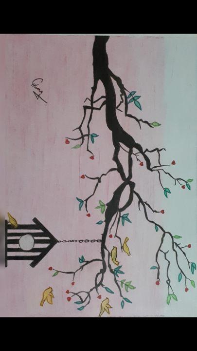 Oil pastel - Artist Huma