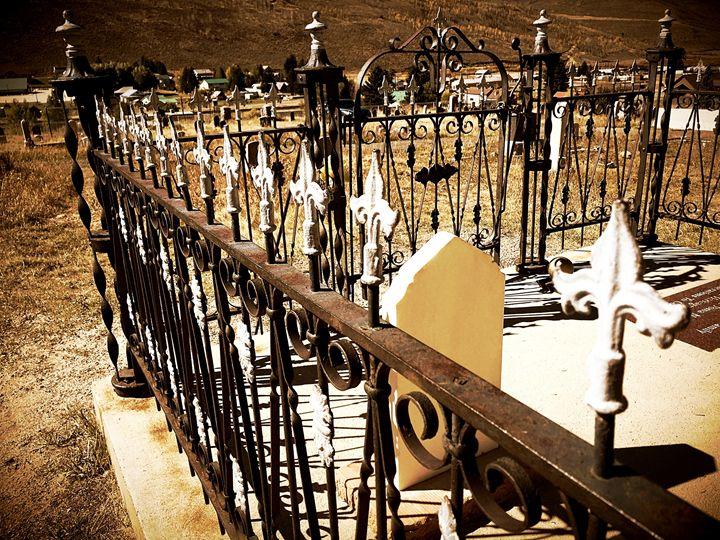 Cemetery Fence in Scofield, UT - A & B Martin Photography