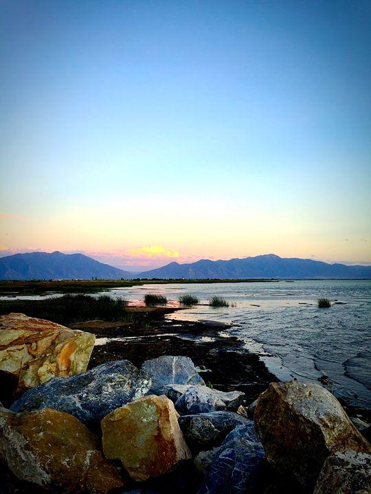 Utah Lake at Sunset - A & B Martin Photography