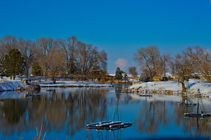 Salem Pond in Winter - A & B Martin Photography