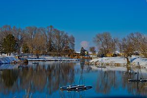 Salem Pond in Winter