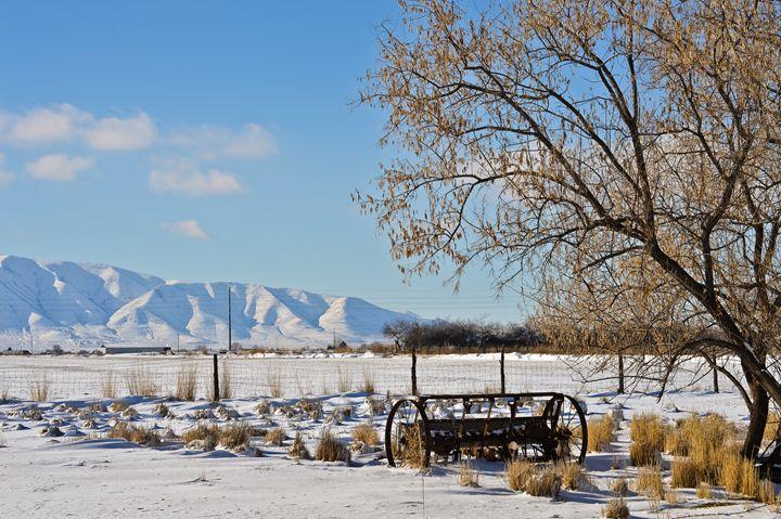 Spanish Fork Farm in Winter - A & B Martin Photography