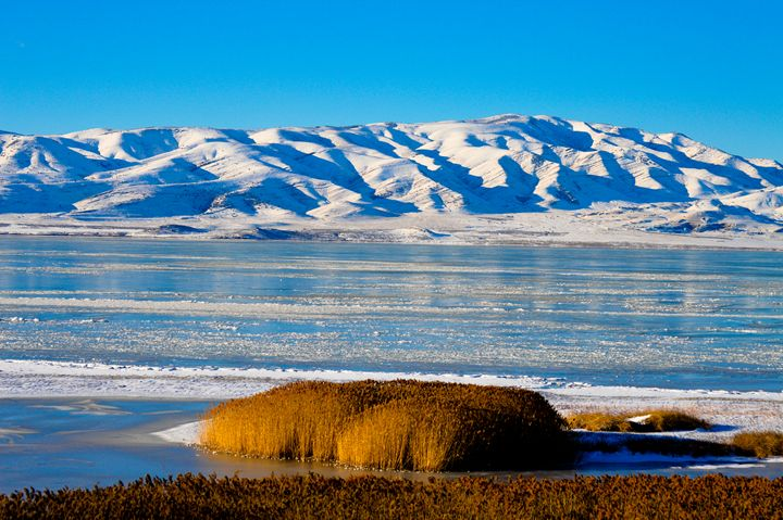 Icy Utah Lake - A & B Martin Photography