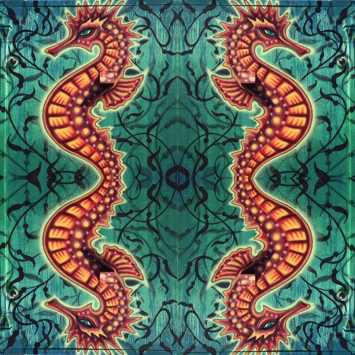 Four Sea Horsemen - Libbys_ArtStudio