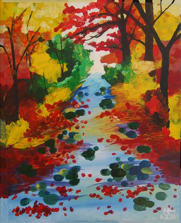 Forest Stream in Autumn - Iris Hsu