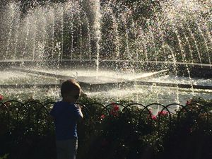 Boy at the fountain