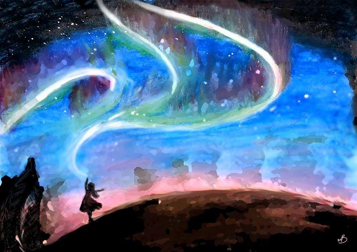 Dancing with the Aurora Borealis - mermaid dreams