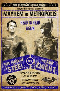 Batman Vs. Superman Wrestling Poster