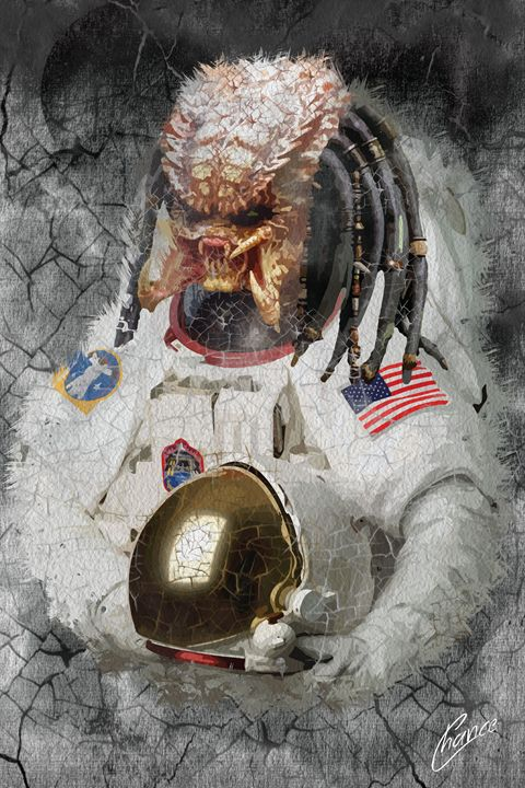 Predator Astronaut - Graphic Element