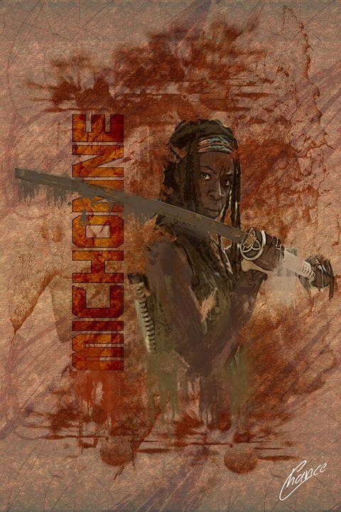 Michonne The Walking Dead - Graphic Element