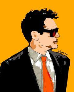 Tony stark digital painting