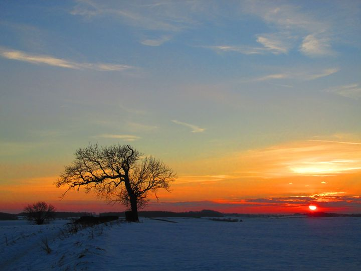 Sunset on a winters day. - Timawells