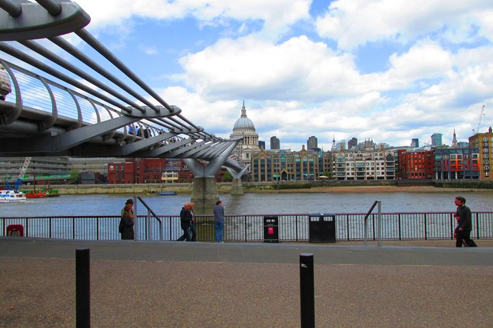 St Pauls and Millennium bridge. - Timawells