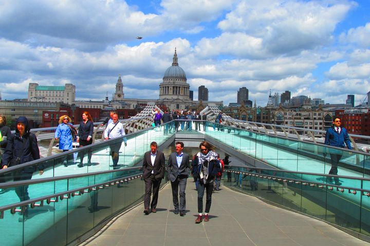 London St Pauls and Millenium bridge - Timawells