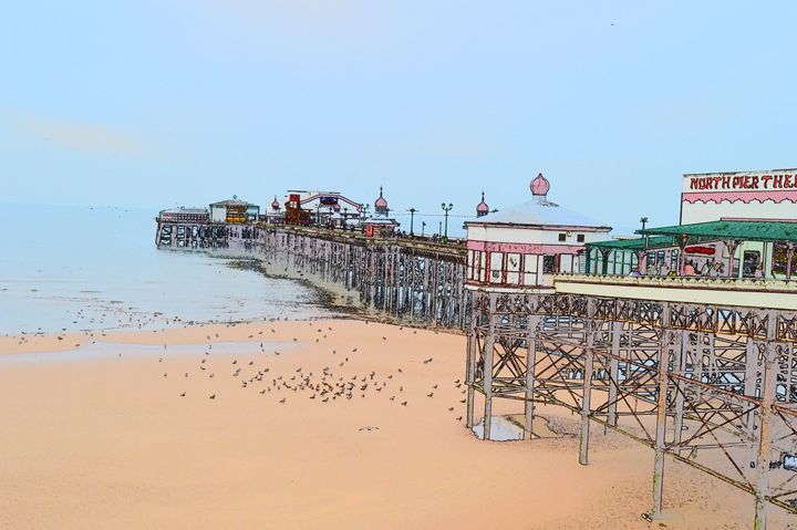 Pier and beach Blackpool - Timawells