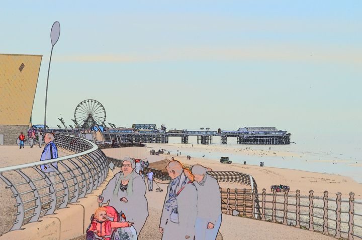 Blackpool pier and wheel - Timawells