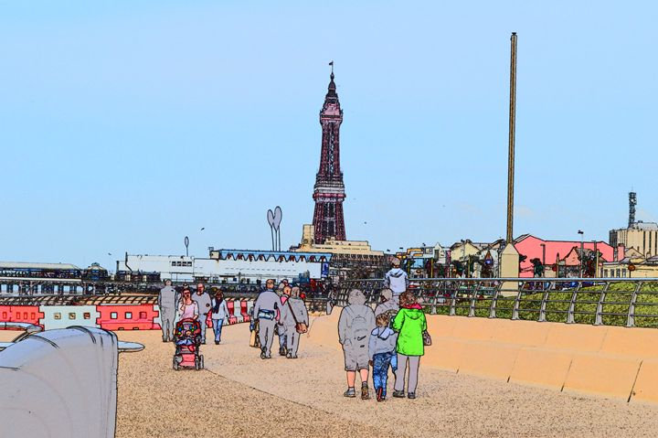 Blackpool tower and Promenade - Timawells